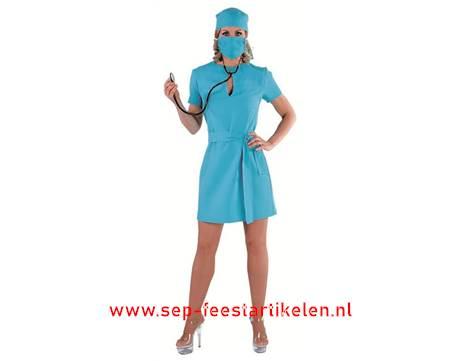 Professionele Halloween Kostuums.Chirurg Kostuum Dame 4dlg Direct Leverbaar Sep
