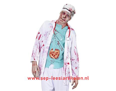 Professionele Halloween Kostuums.Halloween Zombie Dokter 2dlg Direct Leverbaar Sep