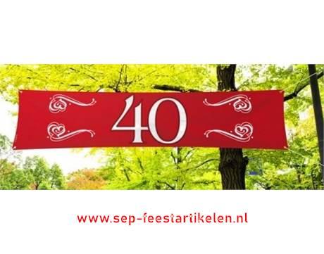 Beste Banier jubileum 40 jaar robijn direct leverbaar! - SEP Feestartikelen IA-43