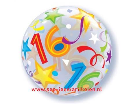 ballonnen 16 jaar Helium ballon 16 jaar bubble direct leverbaar!   SEP Feestartikelen ballonnen 16 jaar