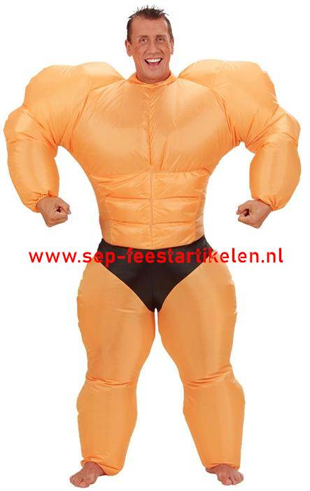 Welp Opblaaspak: opblaas kostuum bodybuilder direct leverbaar! - SEP JY-02