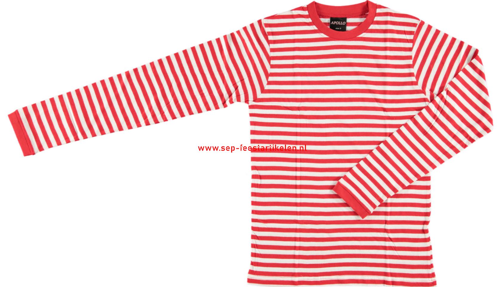Dorus trui volwassenen rood wit Carnavalskleding goedkoop