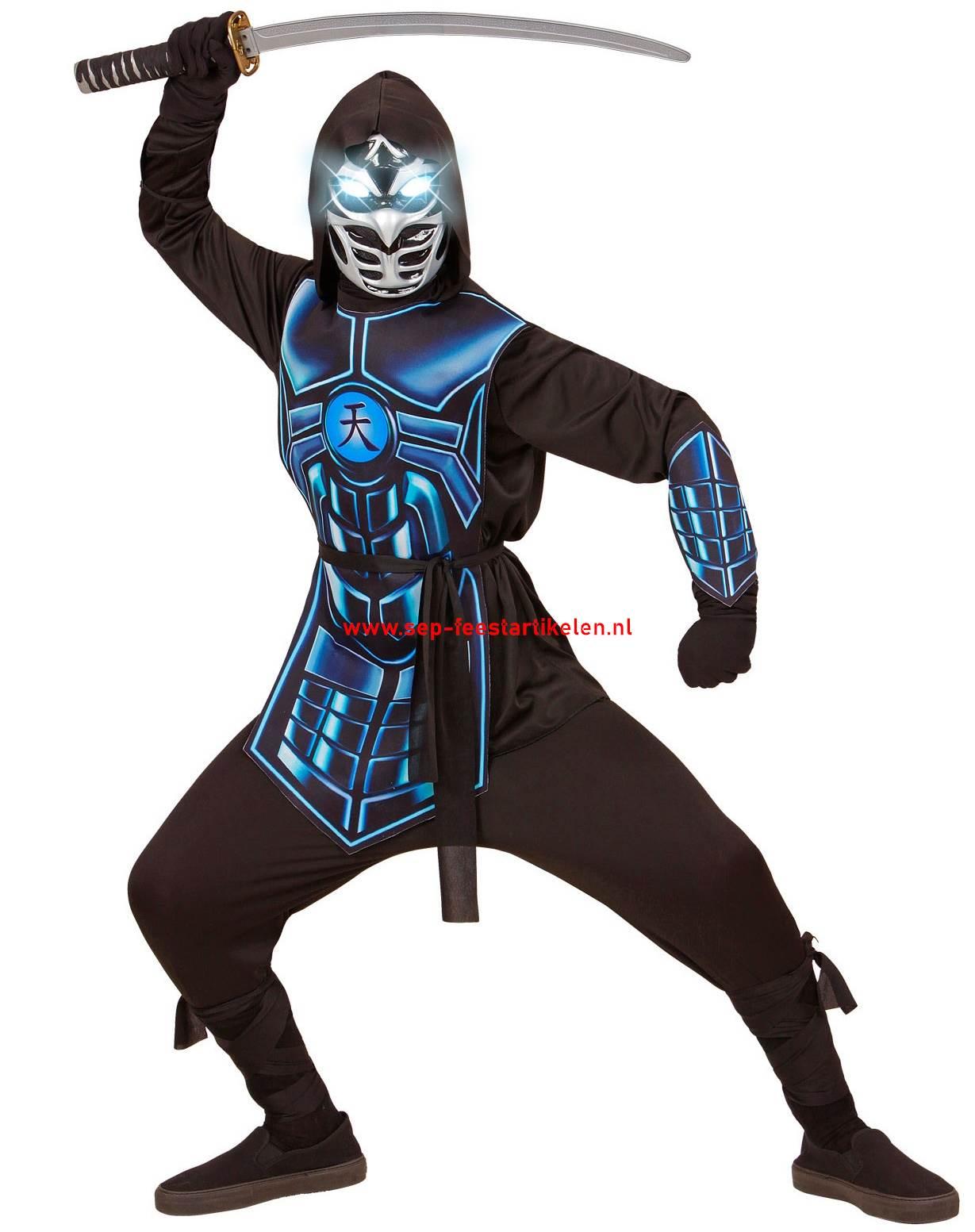 Carnavalskleding Dames Ninja.Cyber Ninja 5dlg Geen Broek Direct Leverbaar Sep Feestartikelen