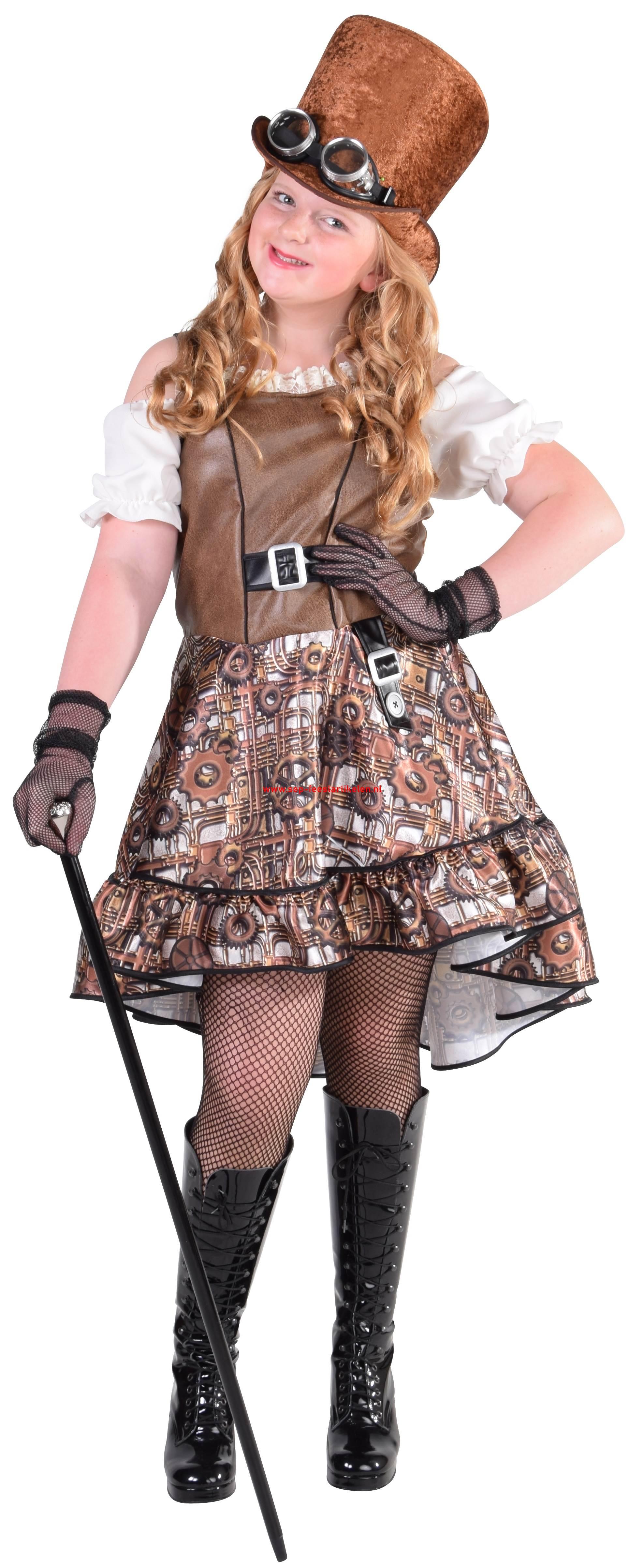 5e2ff871a0c71d Steampunk meisjes jurk 1dlg. direct leverbaar! - SEP Feestartikelen