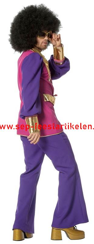 6f5eb011533 Disco heren kostuum pink 2dlg. direct leverbaar! - SEP Feestartikelen