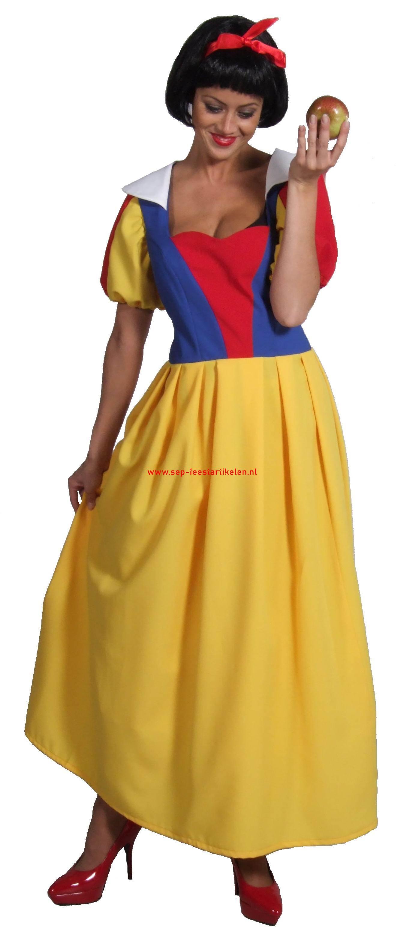 c6415e000a1d3a Sneeuwwitje jurk lang model 1dlg. direct leverbaar! - SEP Feestartikelen