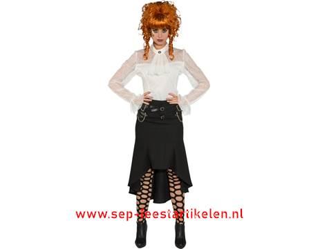 58d263869fff01 Steampunk rok lang zwart direct leverbaar! - SEP Feestartikelen