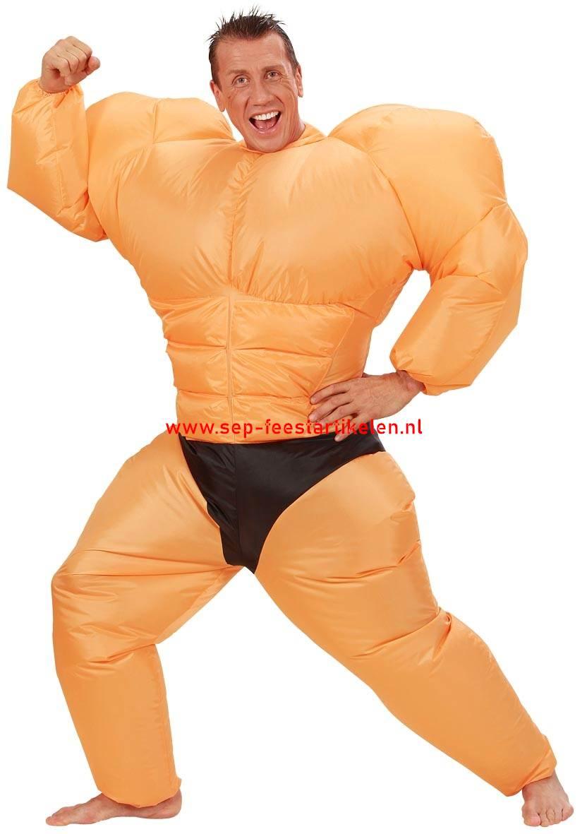 Super Opblaaspak: opblaas kostuum bodybuilder direct leverbaar! - SEP EC-45