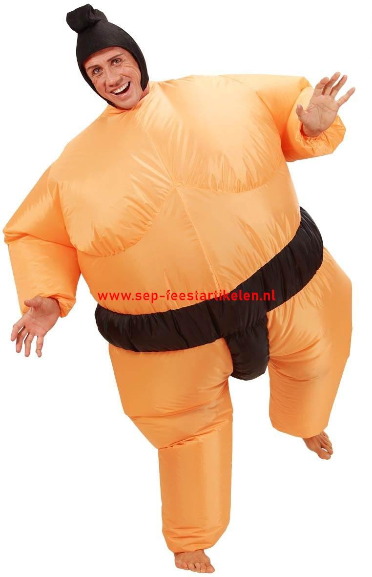 Wonderbaarlijk Opblaaspak: opblaas kostuum SUMO 2dlg. direct leverbaar! - SEP EU-09